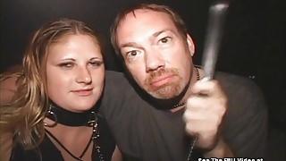 Blonde Freak On Leash Sperm Spray Theater Gangbang