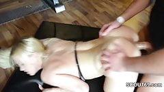 German Big Tit Blond Teen In Amateur Gangbang With Older Men