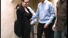 French Chubby Emy Takes Few Cocks