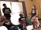 Polish White Chick Natasha Starr Is Fucked By Several Black Guys