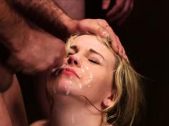 Foxy Hottie Gets Sperm Load On Her Face Swallowing Al83utv