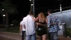 Blond Slut Gangbanged After The Club