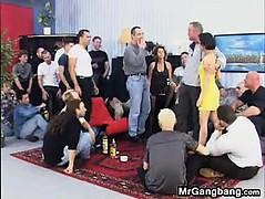 Mature Whore Sucks And Fucks In A Gangbang